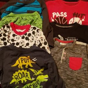 7 Long sleeved 2t 3t 4t shirts